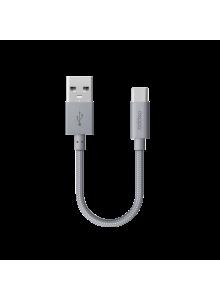 USB дата-кабель MicroUSB 15см (Deppa, серый)